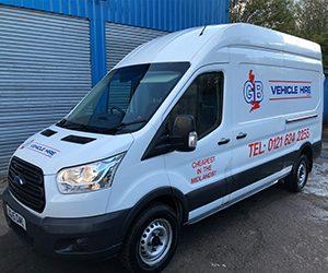 hire a long wheel base van